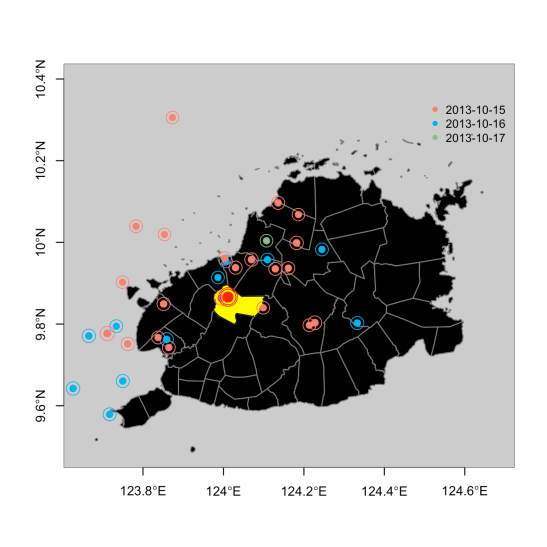 Earthquake Maps in R | A Byte of my 2 2-lb Brain